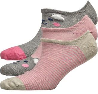 Lovestruck Womens Three Pack 3D Bear Footsies Grey Marl