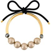 Marni bow fastening pearl necklace