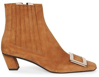 Roger Vivier Belle Vivier Suede Ankle Boots