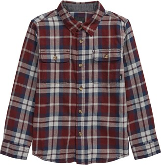 Vans Kids' Sycamore Check Flannel Button-Up Shirt
