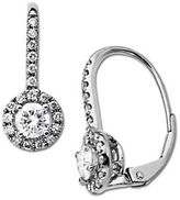 Lord & Taylor Diamond Earrings in 14 Kt. White Gold 1.0 ct. t.w.