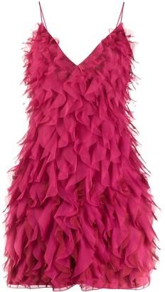 Alberta Ferretti Micro Flounce mini dress