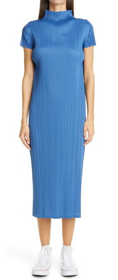 Pleats Please Issey Miyake August Pleated Midi Dress