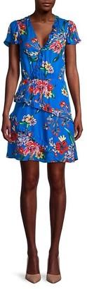 Parker Justice Multicolor Ruffle Mini Dress