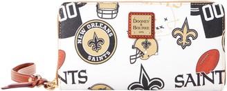 Dooney & Bourke NFL Saints Large Zip Around Wristlet