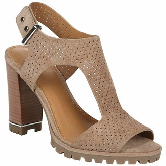 Franco Sarto Womens Allister 2 Taupe Ankle Straps 9 M