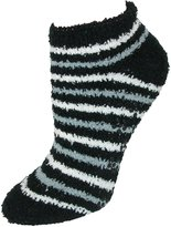 CTM® Women's Striped Slipper Socks with Non Slip Sole