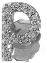 KC Designs Rose Gold Diamond P Single Stud Earring