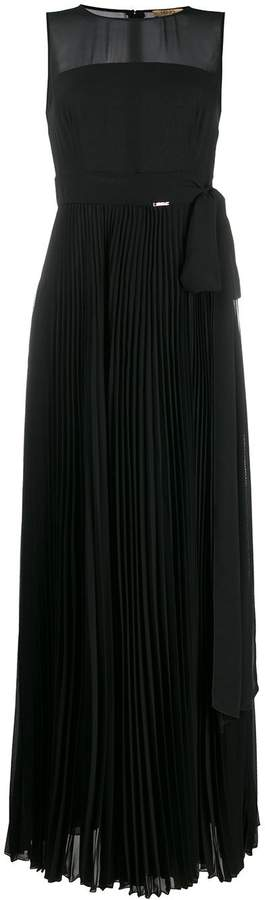 Liu Jo sheer pleated evening gown