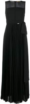 Liu Jo sheer pleated evening gown