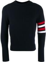 Thom Browne 4-Bar saddle sleeve sweater