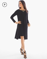 Chico's Solid Double-Layer Midi Dress
