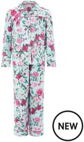 Monsoon Florencia Rose Print Flannel Pyjamas