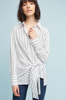 Eri + Ali Striped Tie-Front Buttondown