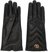 Gucci GG Marmont chevron gloves - women - Lamb Skin/Cashmere - 7.5