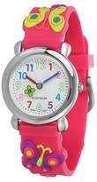 Geneva Platinum Kid's Butterfly Silicone Strap Watch