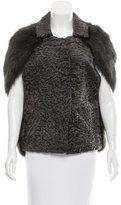 Marni Grey Fox Fur Cape