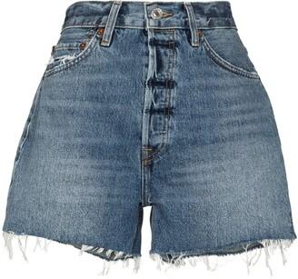 RE/DONE High-Rise Cutoff Shorts