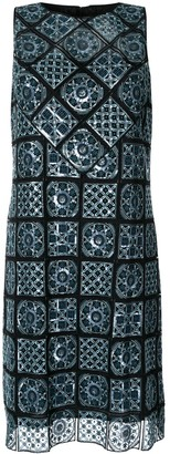 Elie Tahari Helena geometric print dress