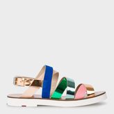 Paul Smith Women's Multi-Colour Leather 'Rio' Sandals