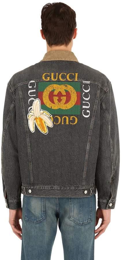 Gucci Vintage Logo Washed Denim Jacket