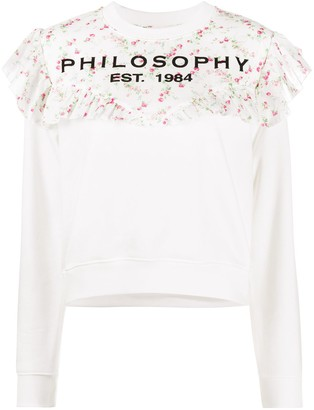 Philosophy di Lorenzo Serafini Ruffled Floral Print Jumper