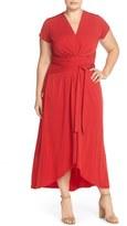 MICHAEL Michael Kors Plus Size Women's Cap Sleeve Maxi Dress