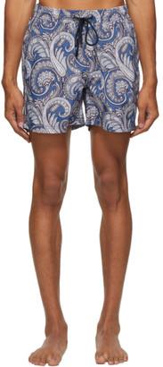 Etro Blue Paisley Swim Shorts