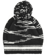 Missoni Pom-Pom Black Knit Hat Black/White 1SIZE