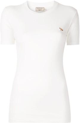 MAISON KITSUNÉ fox embroidered T-shirt