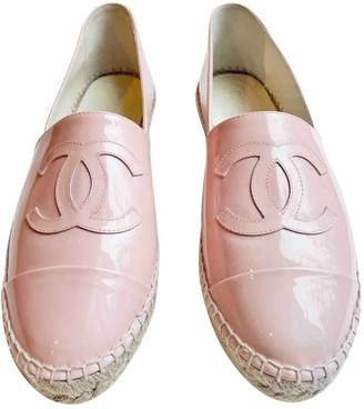 Chanel Pink Patent leather Espadrilles