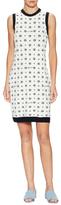Love Moschino Sleeveless Graphic Intarsia Sheath Dress