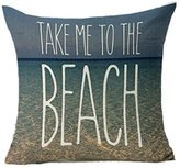 """Pillow Covers Decorative,Lavany """"LIFE IS BETTER AT THE BEACH""""Sofa Bed Home Decoration Festival Throw Pillow Case Cushion Cover (C)"""