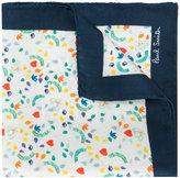 Paul Smith faces pattern pocket square - men - Silk - One Size