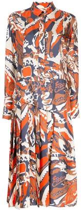 Victoria Beckham Abstract Print Shirt Dress