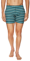 "Parke & Ronen Braniff 5"" Lido Engineered Print Swim Trunks"