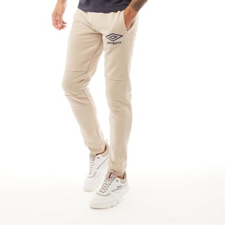 Umbro Mens Active Style Skinny Jog Pants Stone/Blue