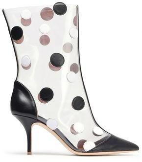 Malone Souliers X Emanuel Ungaro + Emanuel Ungaro Appliqued Pvc And Leather Boots