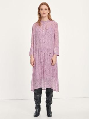 Samsoe & Samsoe Elm Floral Shirt Dress In Wisteria Purple - 8
