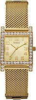 GUESS GUESS? Women's U0130L2 Enduring Chic Crystal Mesh -Tone Watch