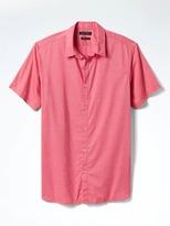 Banana Republic Camden-Fit Custom Wash Plaid Shirt