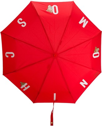 Moschino Lettered Logo-Print Umbrella