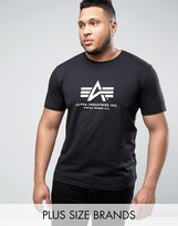 Alpha Industries Plus Logo T-shirt Regular Fit In Black