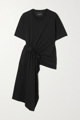 Simone Rocha Asymmetric Ruffled Supima Cotton-jersey T-shirt - Black
