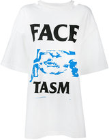 Facetasm open-back printed T-shirt - women - Cotton/Nylon/Rayon - One Size