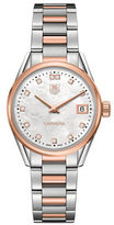 Tag Heuer Carrera Diamonds, Steel and 18K Rose Gold Bracelet Watch
