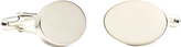 Ravi Ratan Men's Infinity Edge Oval Engravable Cufflinks
