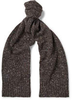 Anderson & Sheppard - Donegal Virgin Wool And Cashmere-blend Scarf - Brown