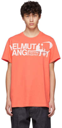 Helmut Lang Orange Logo Standard T-Shirt