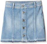 Japan Rags Girl's Printed Skirt - Blue -
